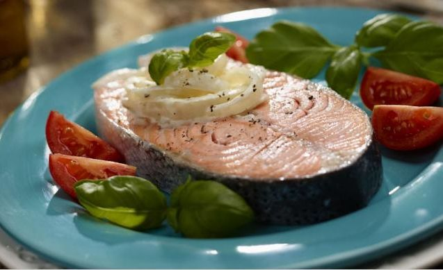 Salmon Medallion with Warm Fennel Salad on MyRecipeMagic.com
