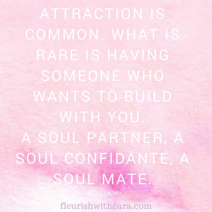 The law of attraction, finding your soulmate