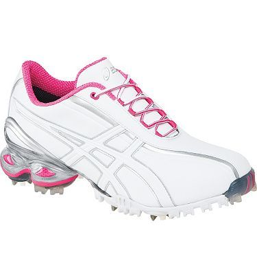 #Asics Lady GEL-Ace #Golf Shoes (White/Hot Pink) These are cute.