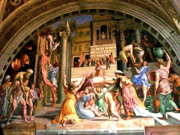 Fire in the Borgo, Raphael Room, Vatican