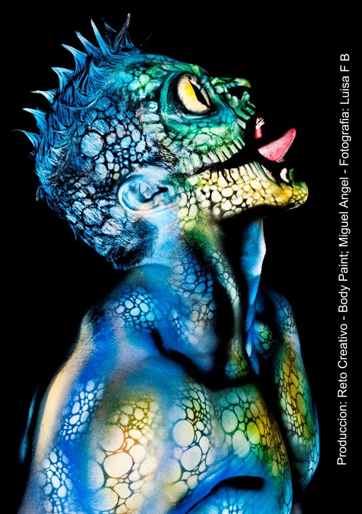 Anolis Sapiens Miguel Angel Colombia I Love Body Art Body Painting Body Painting Men Body Art