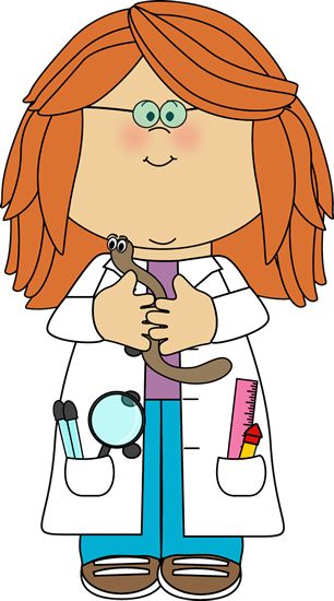 Girl Scientist with Worm