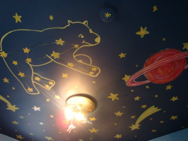 64 best images about jack henry new room ideas on for Constellation ceiling mural