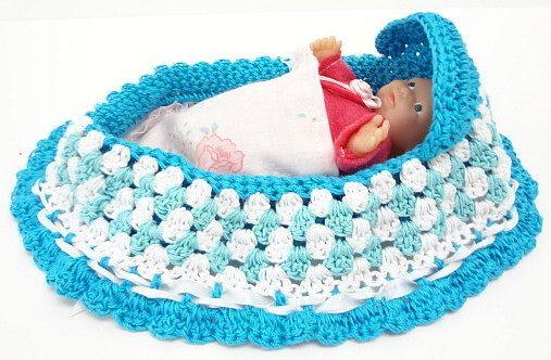 Peter Rabbit Amigurumi Pattern : cradle purse, itty bitty baby doll, crochet, church purse ...