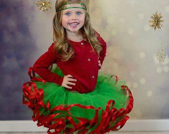 Falda de tutú de Elf con campanas. Tutú de la por CassidyChristy