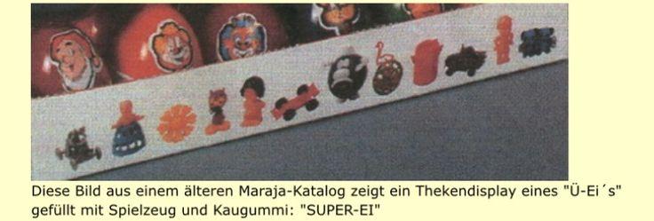 Wer kennt sie noch? Das Super Ei von Maraja in Üei Größe mit Spielzeug und Süßigkeiten drin. Gefunden auf www.ff-kat.de