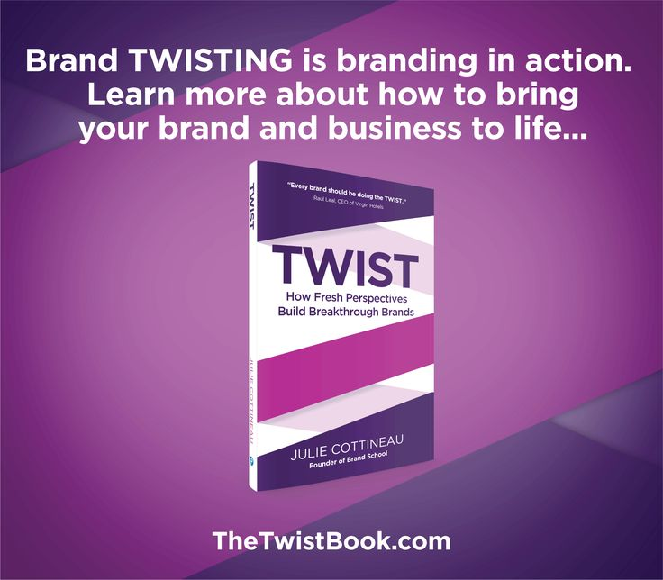 Look out of your category at successful brands for inspiration - then apply those best practices by TWISTING them with your brand and business to help you stand out.... More on how to brand TWIST in TheTwistBook.com.