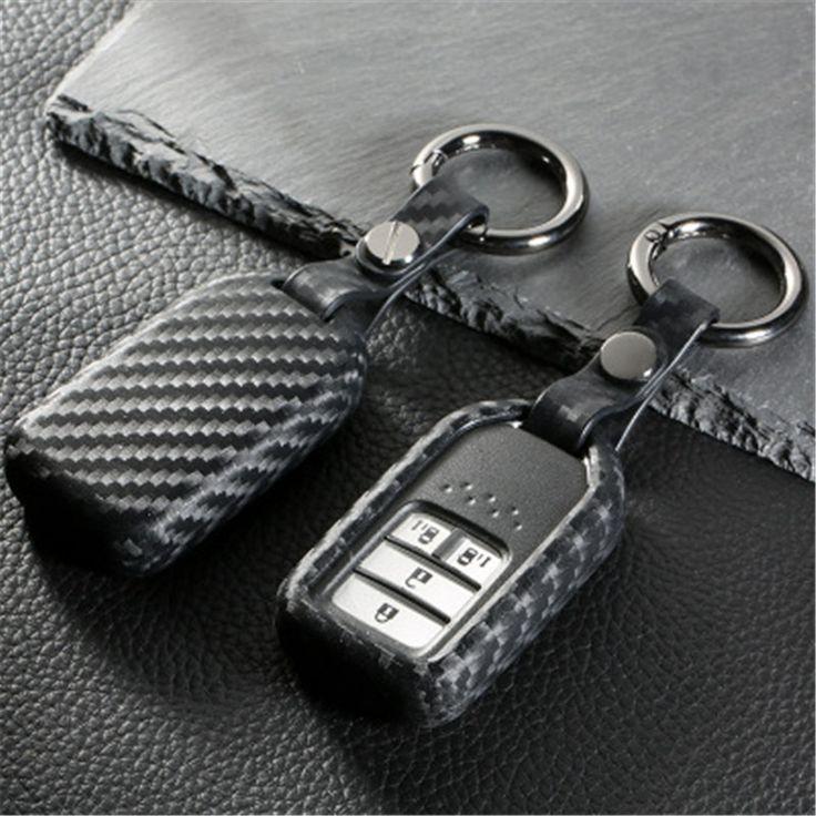 Peacekey Carbon fiber silicone rubber car remote key fob