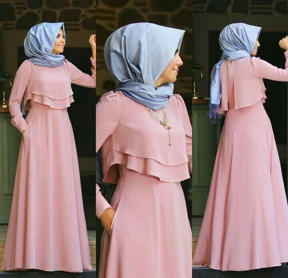 Baju Gamis Sifon Bermotif Polos Model In 2019 Dresses Hijab