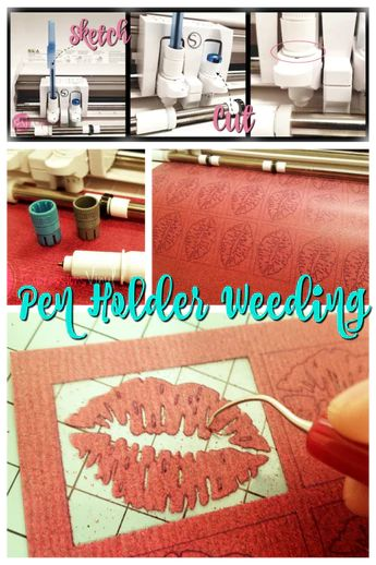 Using a Pen to Weed Glitter HTV easily