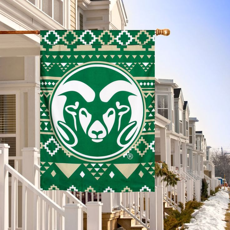 College Flags and Banners Co Colorado State Rams Double Sided Flag