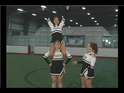 Basic Cheerleading Stunting : The Shoulder Sit in Cheer Stunting - YouTube