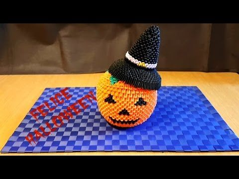 Origami 3D Zucca Halloween Tutorial ITA - YouTube