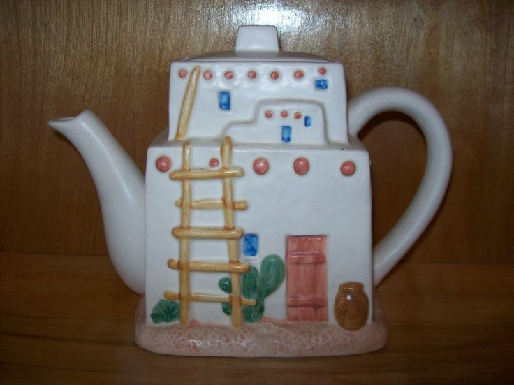 Otagiri Southwestern Tea Set Curtis Swann Adobe Pueblo Tea Pot Salt Shaker Dish | eBay