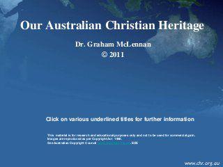 Australian Christian heritage