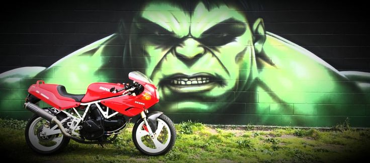Incredible Hulk. Mt Maunganui. Ducati. Street art by Owen Dippie