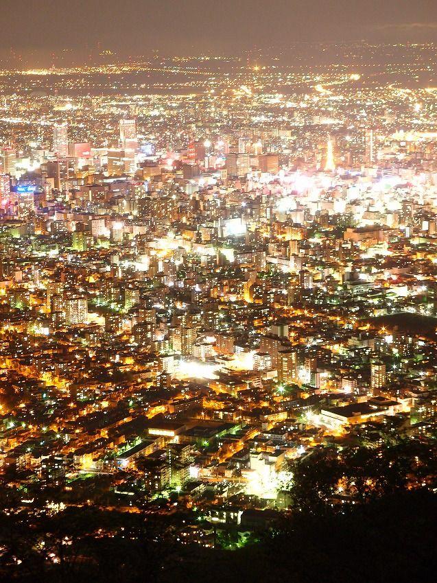 Sapporo night view from Mt. Moiwa, Hokkaido, Japan 藻岩山からの札幌夜景