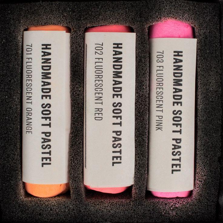 Jacksons : Handmade Soft Pastel : 3 Set : Fluorescent Colours