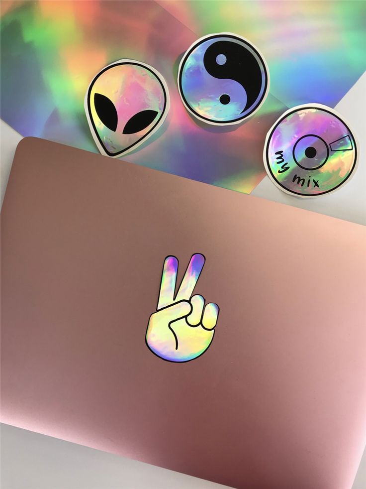 How to make holographic stickers with your cricut happy