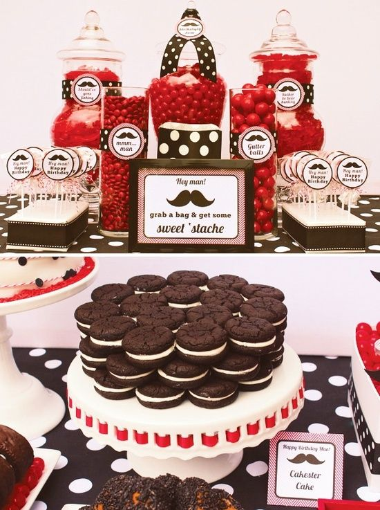 Mustache Party Food Ideas A Sweet Stache
