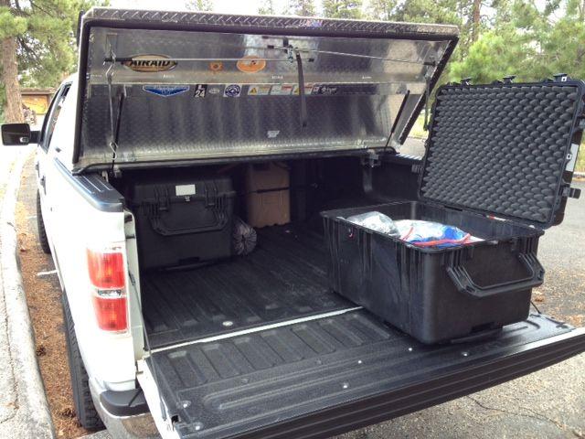 F150 W Diamondback Cover And Pelican Cases Overland