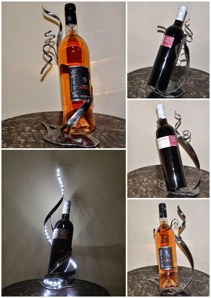 Les 25 meilleures id es de la cat gorie porte bouteille - Porte bouteille vin fer forge ...