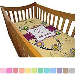 Ovals & Swirls Crib Comforter / Quilt (Personalized)