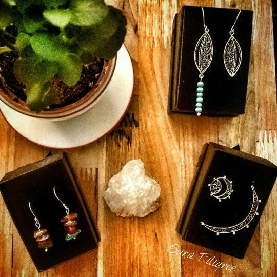 Handmade silver earrings...