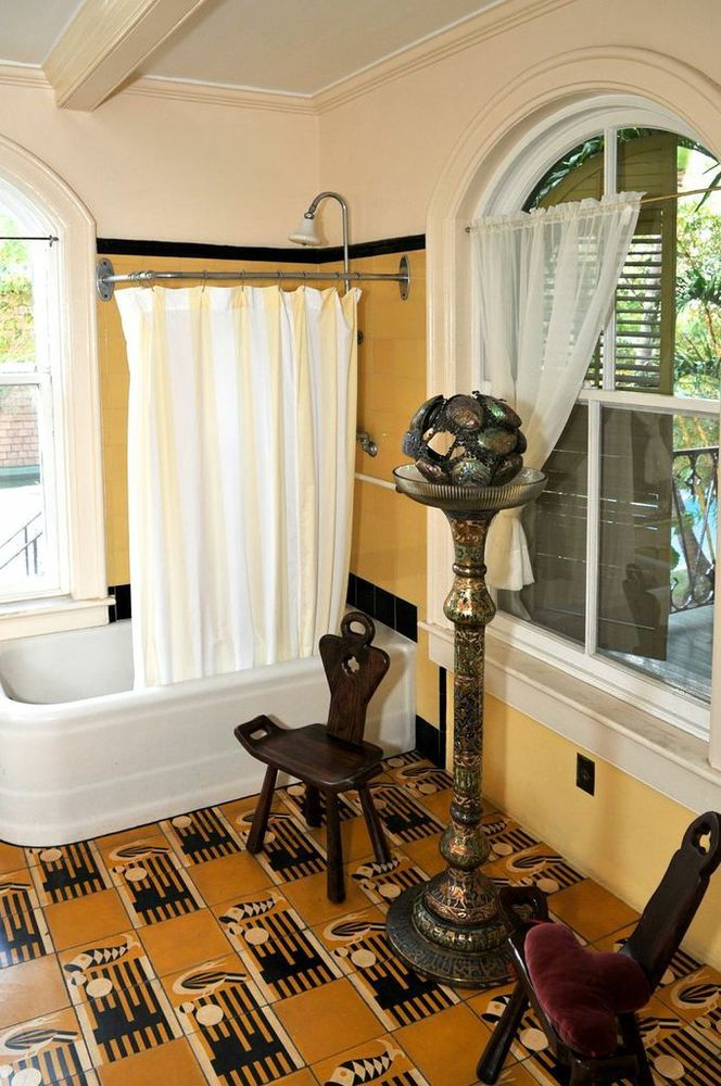 Ernest Hemingway's House In Key West. I have two stools like the one on the left. They are actually birthing chairs.  &