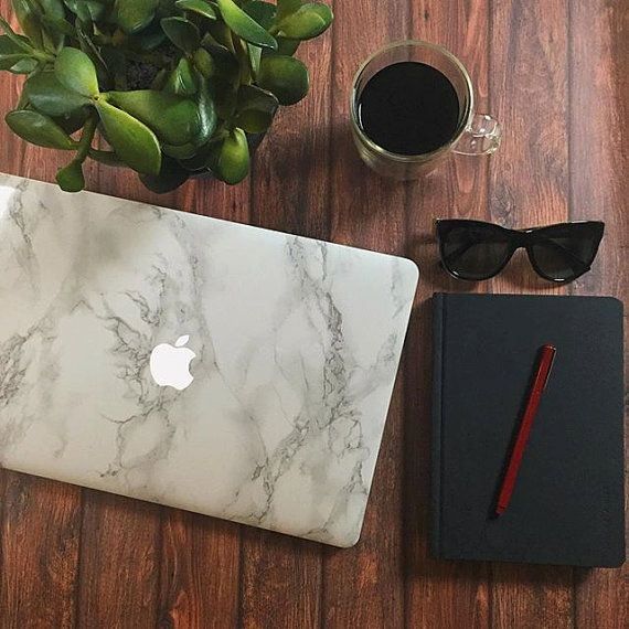Marble MacBook Sticker Decal - Made for MacBook Air, MacBook Pro, MacBook Pro Retina. Made in the USA. FREE U.S. Shipping!