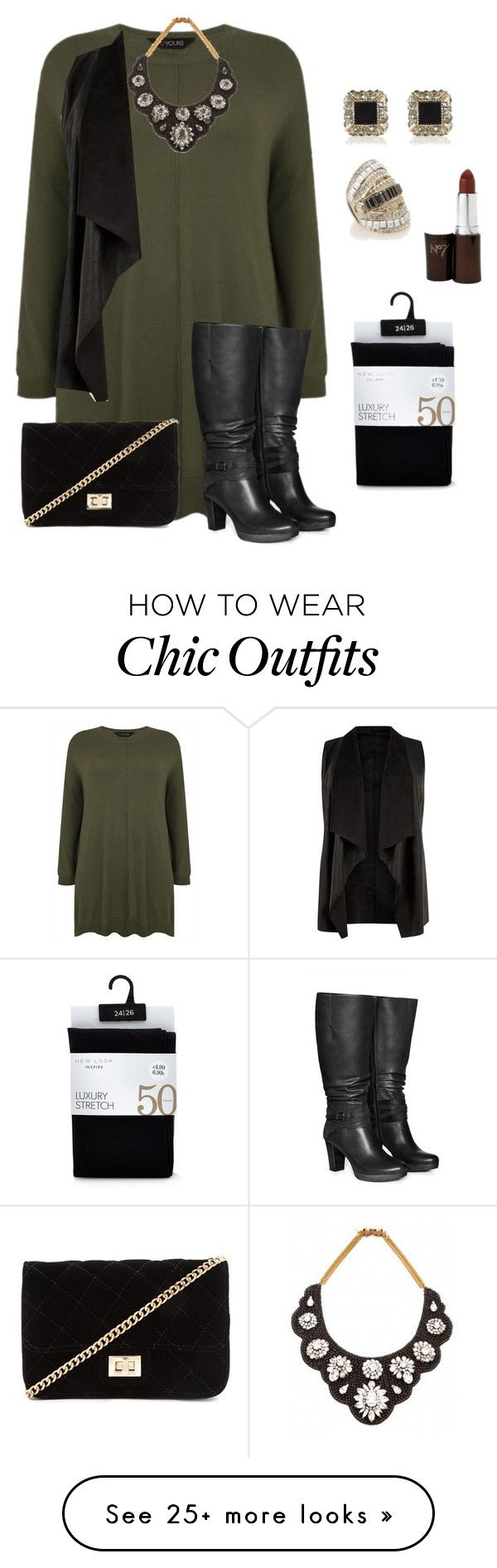 """plus size fall/winter chic and edgy"" by kristie-payne on Polyvore featuring Jilsen Quality Boots, Forever 21, Darya London, River Island and Oasis"
