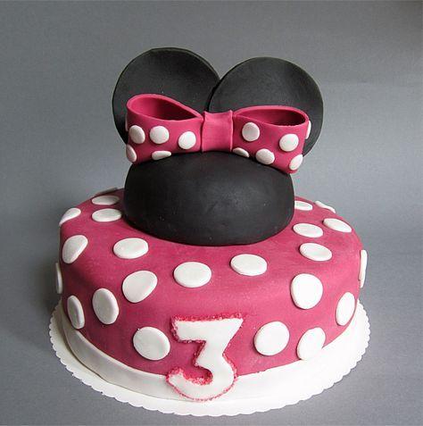 Leckerer Schokoladenkuchen gefüllt und ummantelt mit einer wunderbaren Schokoladen-Buttercreme. Dies unter einer dünnen Schicht Fondant. Das Rezept und die Anleitung für diese Minnie Mouse Torte findet ihr auf meinem Blog.