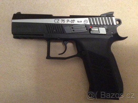 Vzduchová pistole - Prodám vzduchovou pistoli CZ 75 P-07 DUTY. 2000,- Kč + poštovné, Tel. 725929850https://s3.eu-central-1.amazonaws.com/data.huntingbazar.com/4306-vzduchova-pistole-pistole.jpg