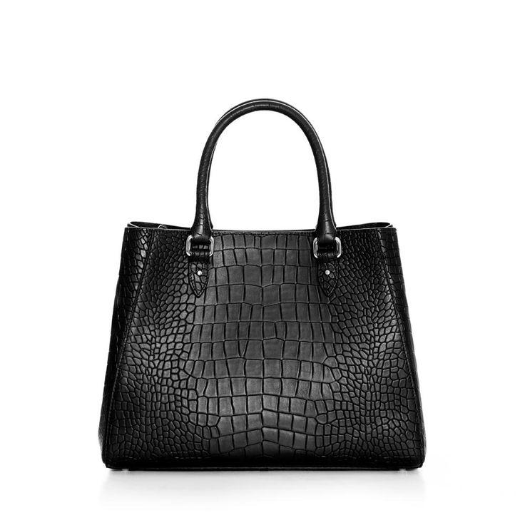 DECADENT 513 New handbag with strap Alligator black