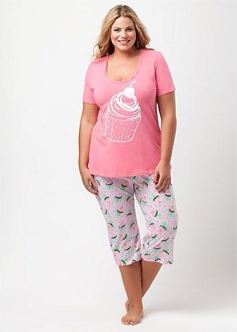 #Virtu Cupcake PJ Set  #plussize #curvy