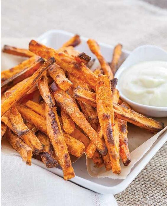Crispy Sweet Potato Fries with Wasabi Aioli - Against All Grain