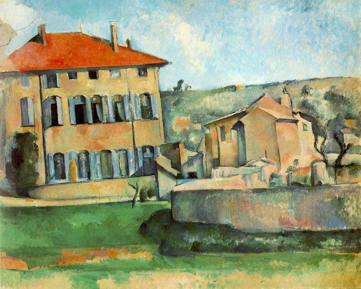"""Paul Cézanne. """"Casa e fattoria nella masseria Bouffan"""", 1885-1887)."""