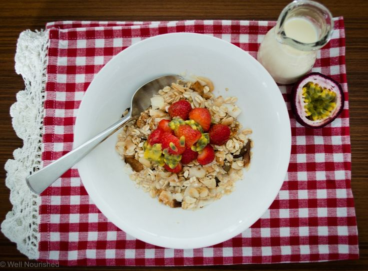 Toasted muesli - a quick, easy and nourishing breakfast staple. This sustaining breakfast recipe can be made gluten and nut free muesli or to suit a paleo diet.