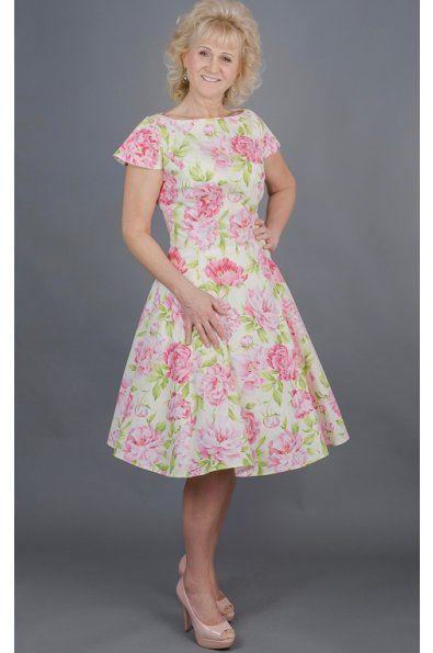 Dílové pivoňkové šaty LAURA  šaty mají kulatý výstrih a kratší rukávky klasický princess střih s rozšířenou sukní střih je vhodný i pro větší velikosti možná úprava střihu a ušití na míru