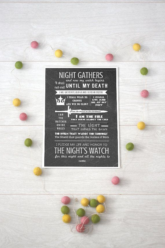 Night's Watch Vows typography