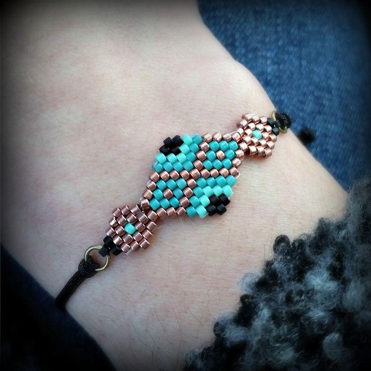 Bracelet tissage brick stitch