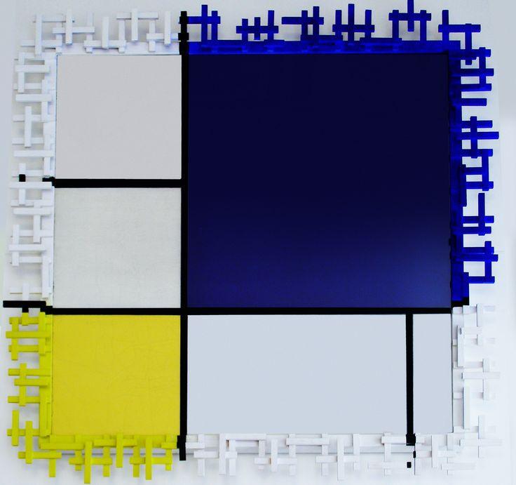 Cornice Mondrian, pezzo unico, hand made.