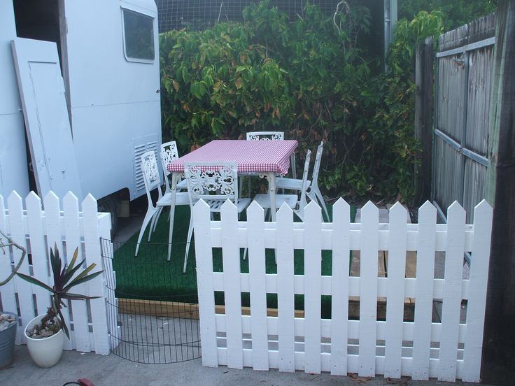 Pallets picket fence haha the American dream :)
