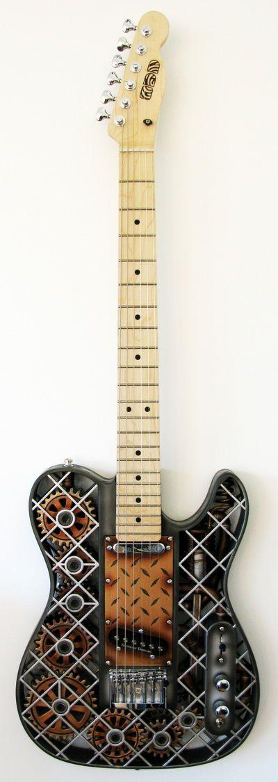 Bien connu Les 25 meilleures idées de la catégorie Guitare steampunk sur  MK52