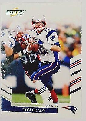 2007 Score #155 Tom Brady, Quarterback, New England Patriots, Super Bowl MVP