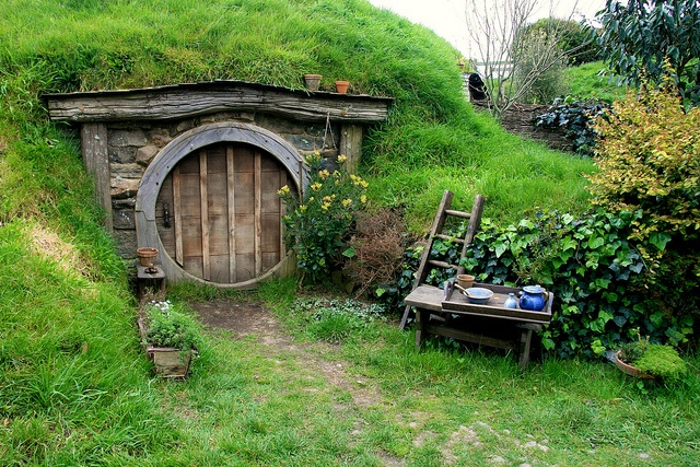 I would be happy living in a hobbit hole. I would probably never come out!