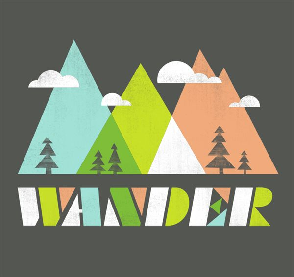 Wander Threadless Print by jenny tiffany. intersting colors