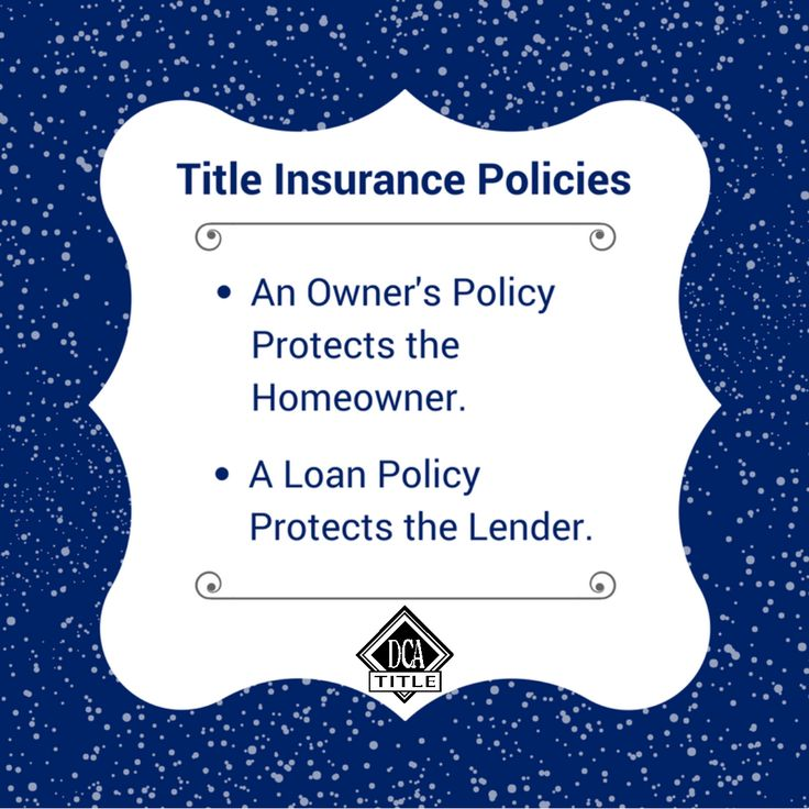 Make sure to know the difference between an owners policy ...
