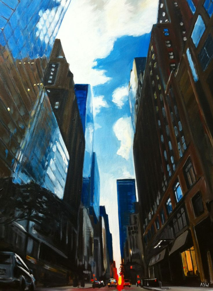 An original painting from the New York Series by Angela Wakefield