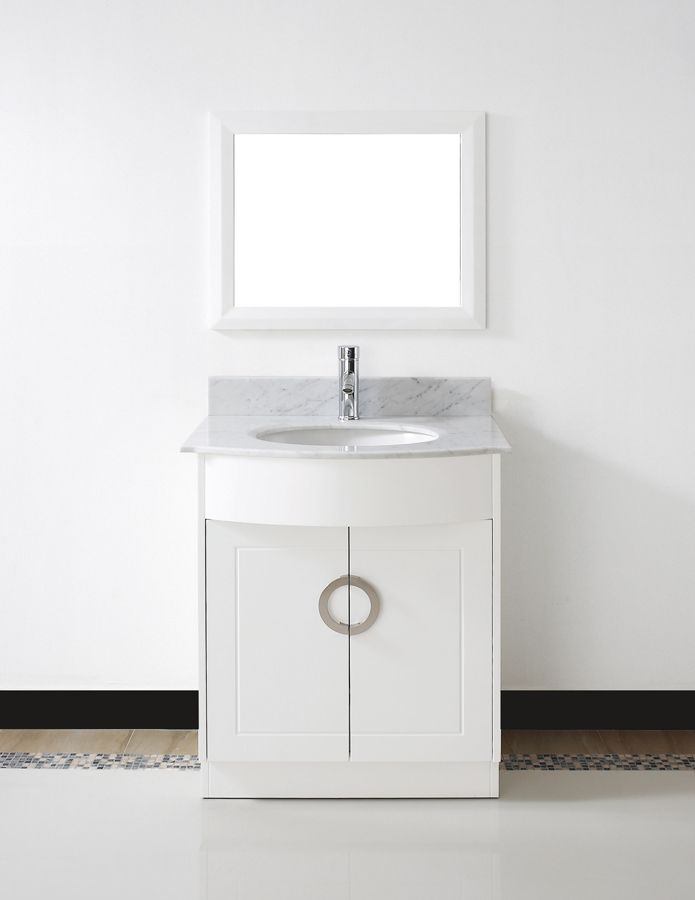 The Awesome Web  Zoe ud White Vanity Carrera White Countertop AB ZOCW by Studio Bathe